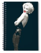Marilyn Monroe Happy Spiral Notebook