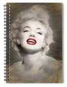 Marilyn Monroe Portrait Spiral Notebook