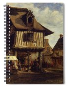 Market-place In Normandy Spiral Notebook