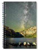 Mars And The Milky Way Spiral Notebook
