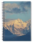 Massive Snow Caped Mountains In The Countryside Of Italy  Spiral Notebook