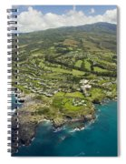 Maui Aerial Of Kapalua Spiral Notebook