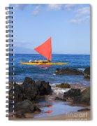 Maui Sailing Canoe Spiral Notebook