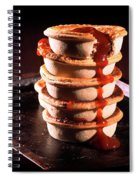Meat Pies With Sauce And High Contrast Lighting. Spiral Notebook