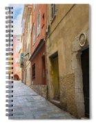 Medieval Street In Villefranche-sur-mer Spiral Notebook