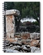 Megalithic Taula In Binisafua Menorca Bronze Age Spiral Notebook