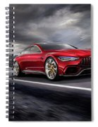 Mercedes A M G   G T Spiral Notebook