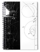 Mesons, Bubble Chamber Event Spiral Notebook