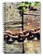 Metal Chain Spiral Notebook