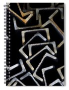 Metal Profile Channel In Packs At The Warehouse Of Metal Products Spiral Notebook