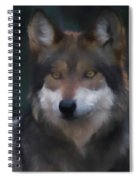 Mexican Grey Wolf Da Spiral Notebook