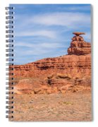 Mexican Hat Rock Monument Landscape On Sunny Day Spiral Notebook