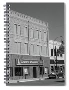 Miles City, Montana - Downtown 2 Bw Spiral Notebook
