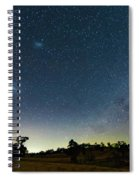 Milky Way And Countryside Spiral Notebook