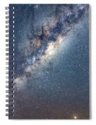 Milky Way And Mars Spiral Notebook