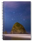 Milky Way Over Canon Beach Spiral Notebook
