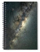 Milky Way With Mars Spiral Notebook