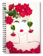 Ramblin' Rose Spiral Notebook