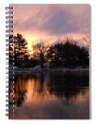Mississippi River Dawn Light Spiral Notebook