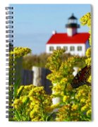 Monarch At East Point Light Spiral Notebook