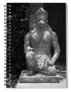Monkey In Black And White Spiral Notebook