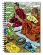 Monks Blessing Buddhist Wedding Ceremony In Cambodia Spiral Notebook
