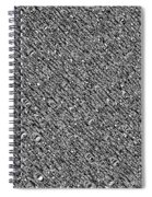 Monochromatic Abstract Spiral Notebook