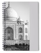 Monochrome Taj Mahal - Square Spiral Notebook