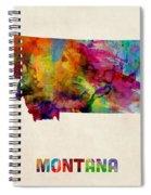 Montana Watercolor Map Spiral Notebook
