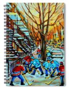 Montreal Hockey Paintings Spiral Notebook