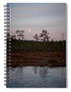 Moon Over Wetlands Spiral Notebook