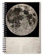 Moon Surface By John Russell Spiral Notebook