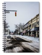 Moresville North Carolina Streets Covered In Snow Spiral Notebook