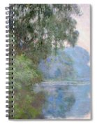 Morning On The Seine Near Giverny 1897 Spiral Notebook