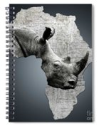 Mother Africa With A Rhino  Spiral Notebook
