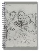 Mother With Sick Child 1878 Fig 29 9h22 6 Tg Vasily Perov Spiral Notebook