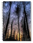 Motion Blurred Trees In A Forest Spiral Notebook