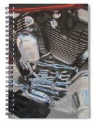 Motorcycle Close Up 1 Spiral Notebook
