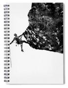 Mountain Climber-black Spiral Notebook
