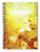 Mountain Stream In Summer Mist Spiral Notebook
