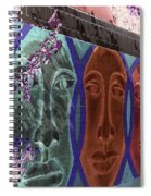 Mural Faces Spiral Notebook