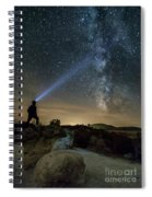 Mushroom Rocks Phenomenon Under The Night Sky Spiral Notebook