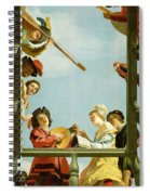 Musical Group On A Balcony Spiral Notebook