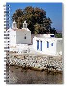 Mykonos Church Spiral Notebook