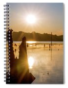 Mystical Sunrise On The Lake Spiral Notebook