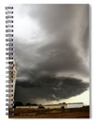 Nasty Looking Cumulonimbus Cloud Behind Grain Elevator Spiral Notebook