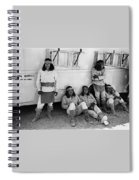 Native American Extras Dressed As Apache Warriors The High Chaparral Set Old Tucson Arizona 1969 Spiral Notebook