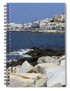 Naxos Greece Harbor Spiral Notebook