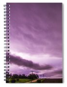 Nebraska Night Thunderstorms 009 Spiral Notebook
