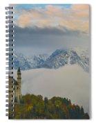 Neuschwanstein Castle Landscape Spiral Notebook